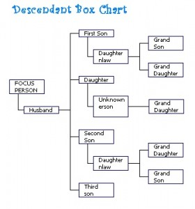 Descendent Box Chart LR
